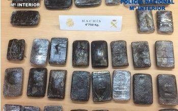 Detenido por poseer 4,750 kilos de hachís dispuestos para su distribución