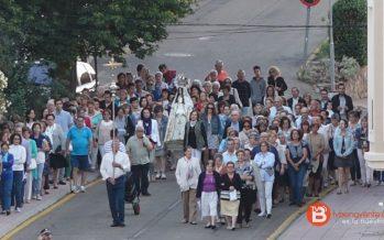 Un centenar de personas acude a la procesión del Rosario de la Aurora