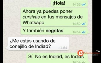 WhatsApp ya permite enviar todos los formatos incluso negrita y cursiva