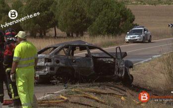 Fallece tras chocar con una furgoneta e incendiarse su coche en La Hiniesta
