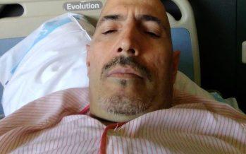 Rafael cancela la huelga de hambre por su ingreso hospitalario