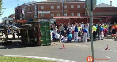 El conductor del tractor de Tordesillas da una tasa de 0,64 en alcohol