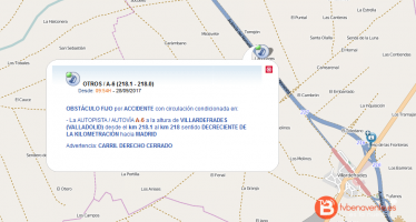 Cortada al tráfico la A-6 en Villardefrades por el vuelco de un camión