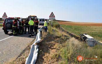 Herido un camionero tras una colisión en la A-66 sentido Benavente
