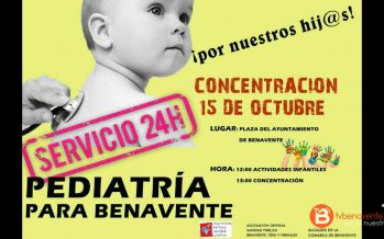 Concentración por un servicio de pediatría 24 horas en Benavente