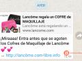 Fraude de falsos cupones de maquillaje de Lancôme por Whatsapp