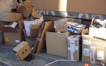 Campaña de concienciación para la recogida de cartón en Benavente